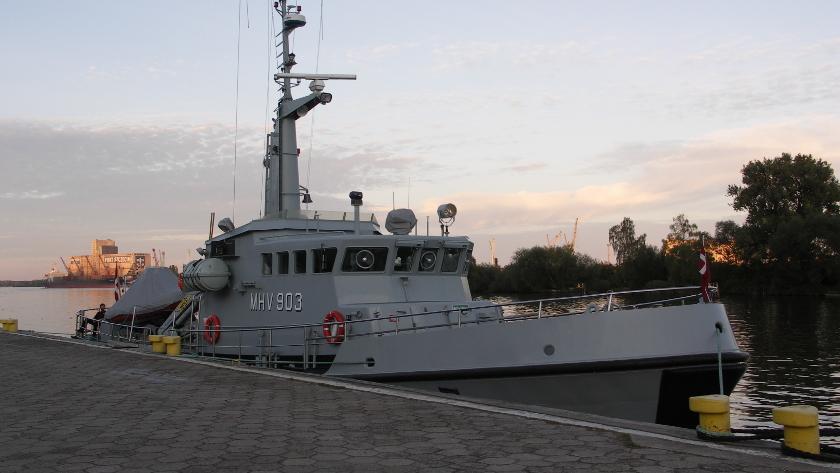 duński okręt patrolowy w Szczecinie